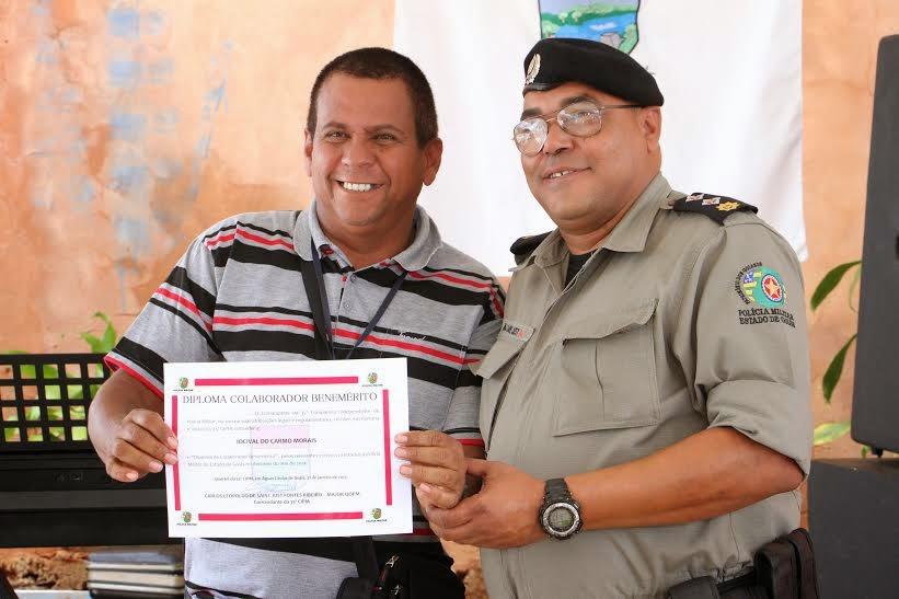 Repórter Catireiro é homenageado mais uma vez pela policia militar.
