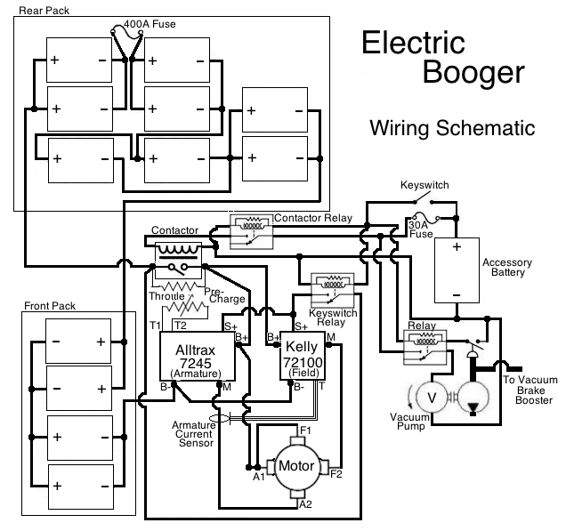 project electric booger wiring schematic i thought it would be a good idea in case i end up selling the car in the future chances are by then i will have forgotten how i wired the whole thing
