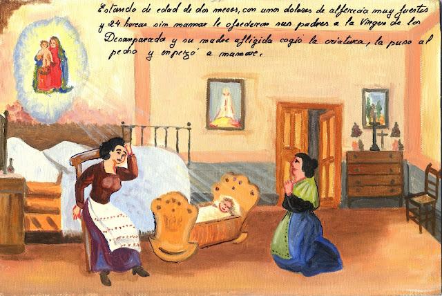 exvoto,neonato, alfericia,  La Virgen de los Desamparados,