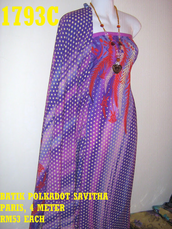BP 1793C: BATIK POLKADOT SAVITHA PARIS, 4 METER