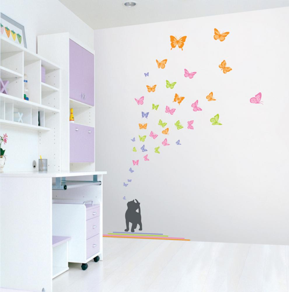 Childrens wall stickers wall decals interior for Childrens bedroom wall designs