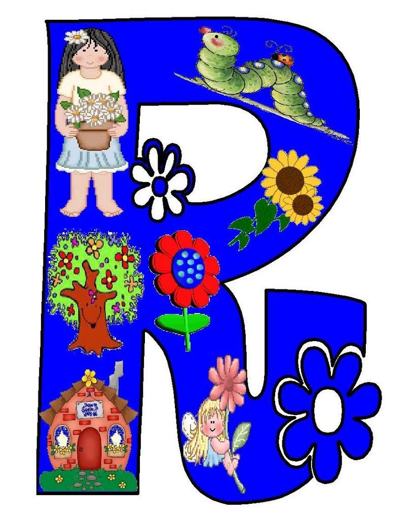 Professores letras para primavera coloridas e para colorir - Dibujos en colores para imprimir ...