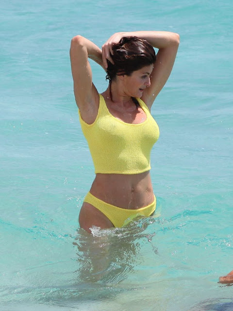 Stephanie Seymour hot sexy bikini pics photos exposing ass boobs