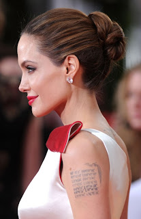 Angelina Jolie hot tattoo in 2013