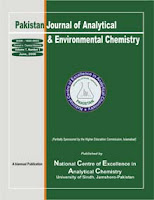 Pakistan Journal of Analytical & Environmental Chemistry