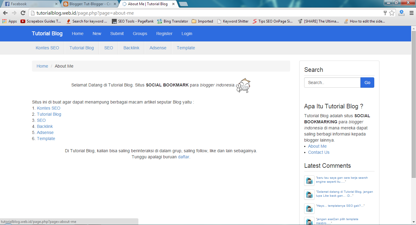 Tutorial Blog - Situs Social Bookmarking Blogger Indonesia