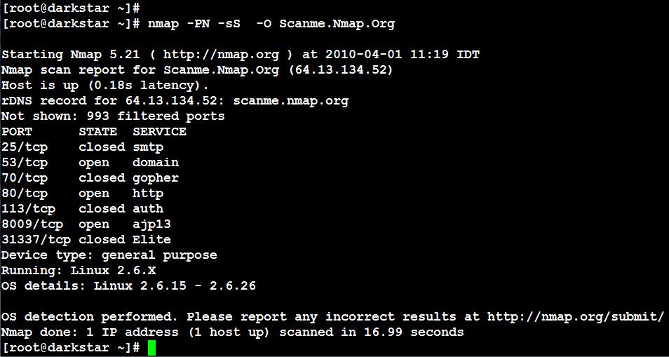 linux security  nmap 1