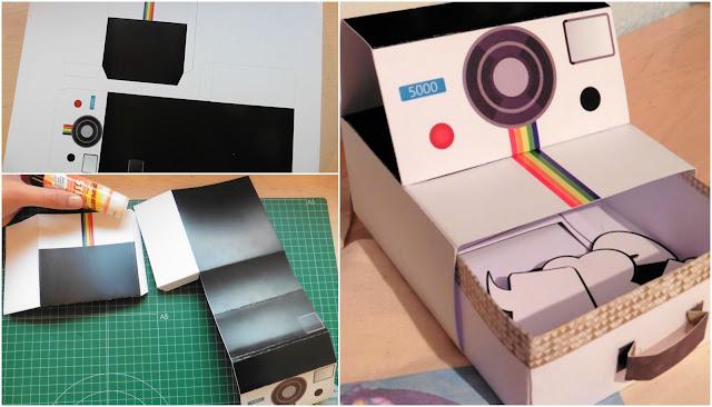 imprimible caja polaroid
