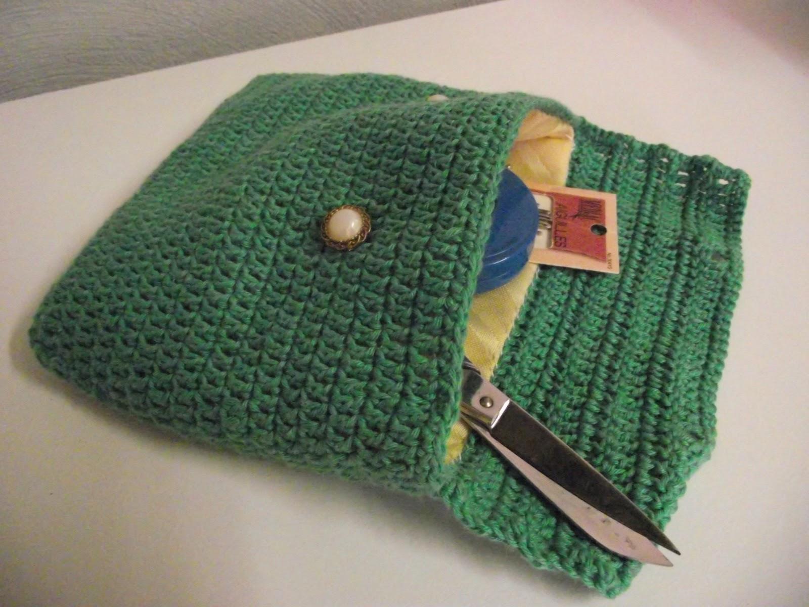 Crochet et tricot facile avec explications: Pochette couture au crochet