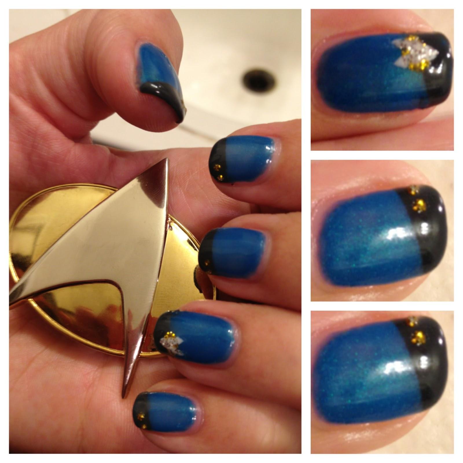 Star Trek Nails Shellacnailart