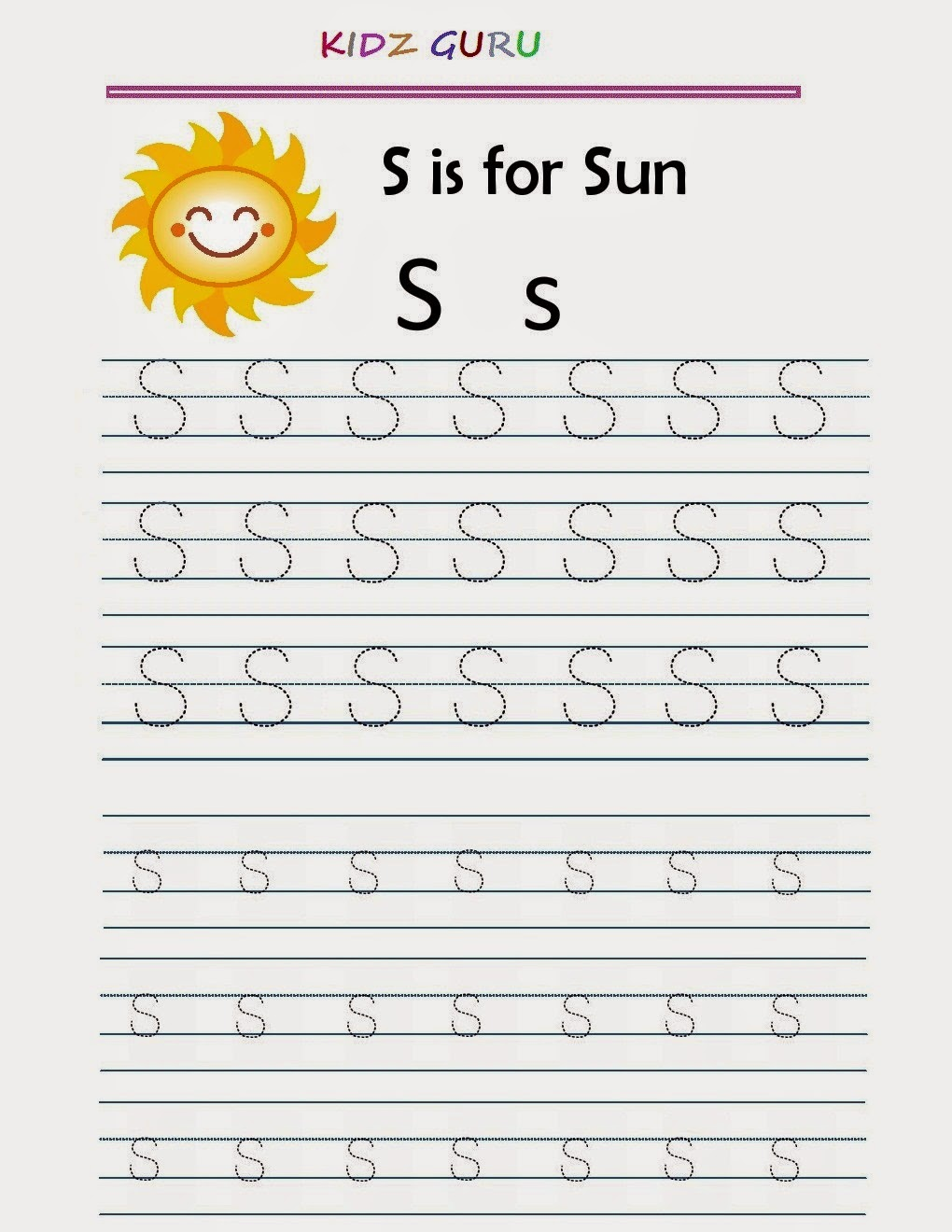 Tracing Worksheet - Alphabet Y y  Tracing Worksheet - Alphabet Z z