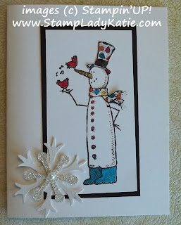 Card made with the image stamped on DSP (Designer Series Printed Paper)