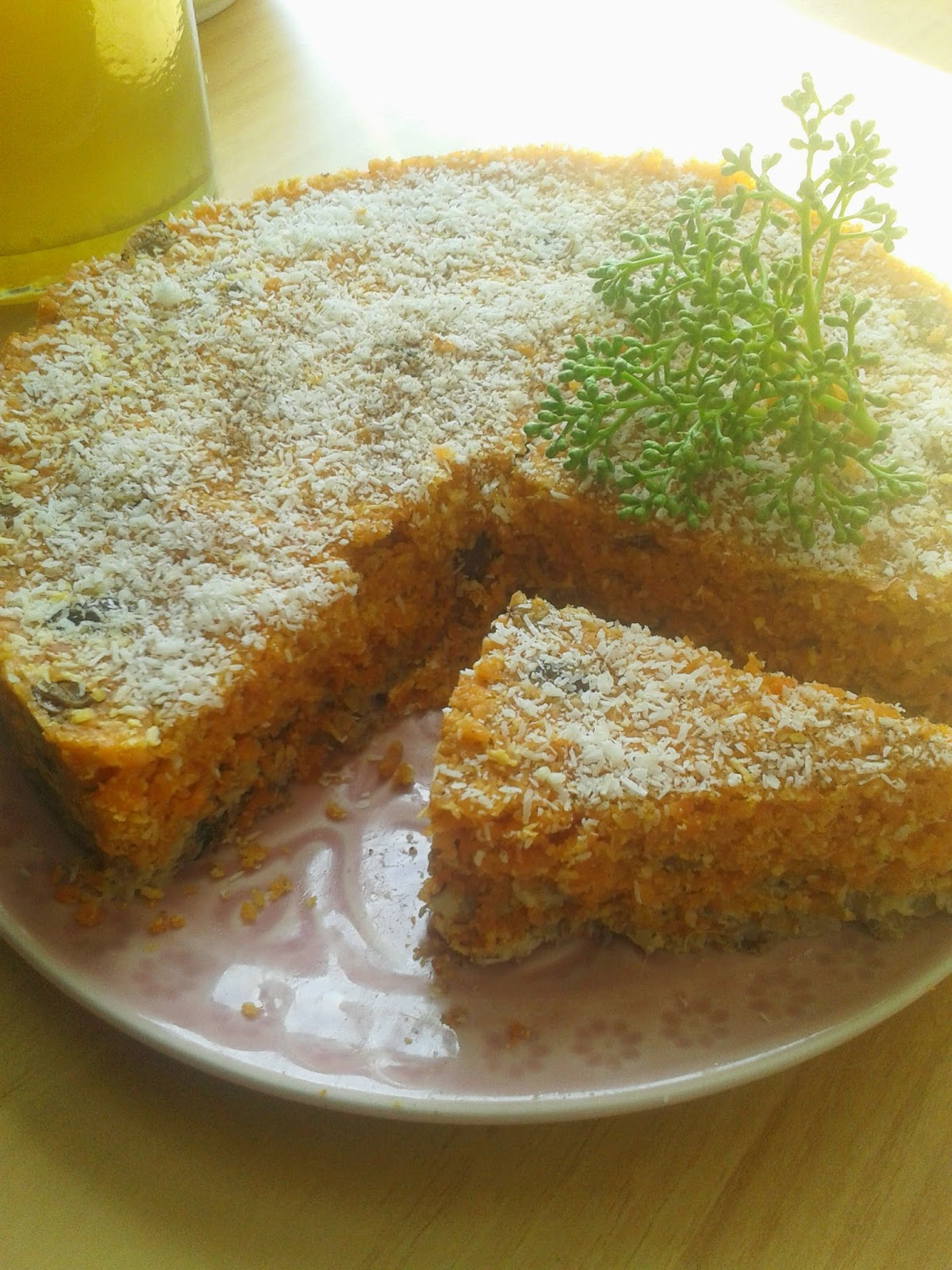 pastel crudo y vegano