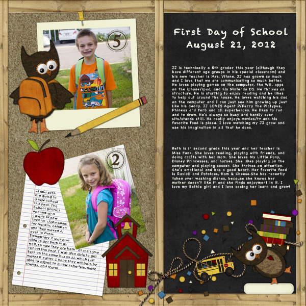 Layout with the School YearZ Collection by DeDe Smith (DesignZ by DeDe)
