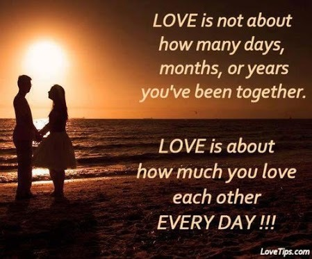 Love is not about how many days months or years best quotes for