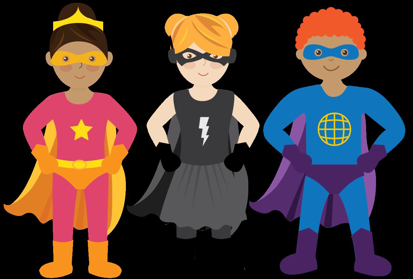 Fly Girl Superhero Five Superheroes Ready to Fly