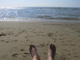 Strand und Meer von Katwijk