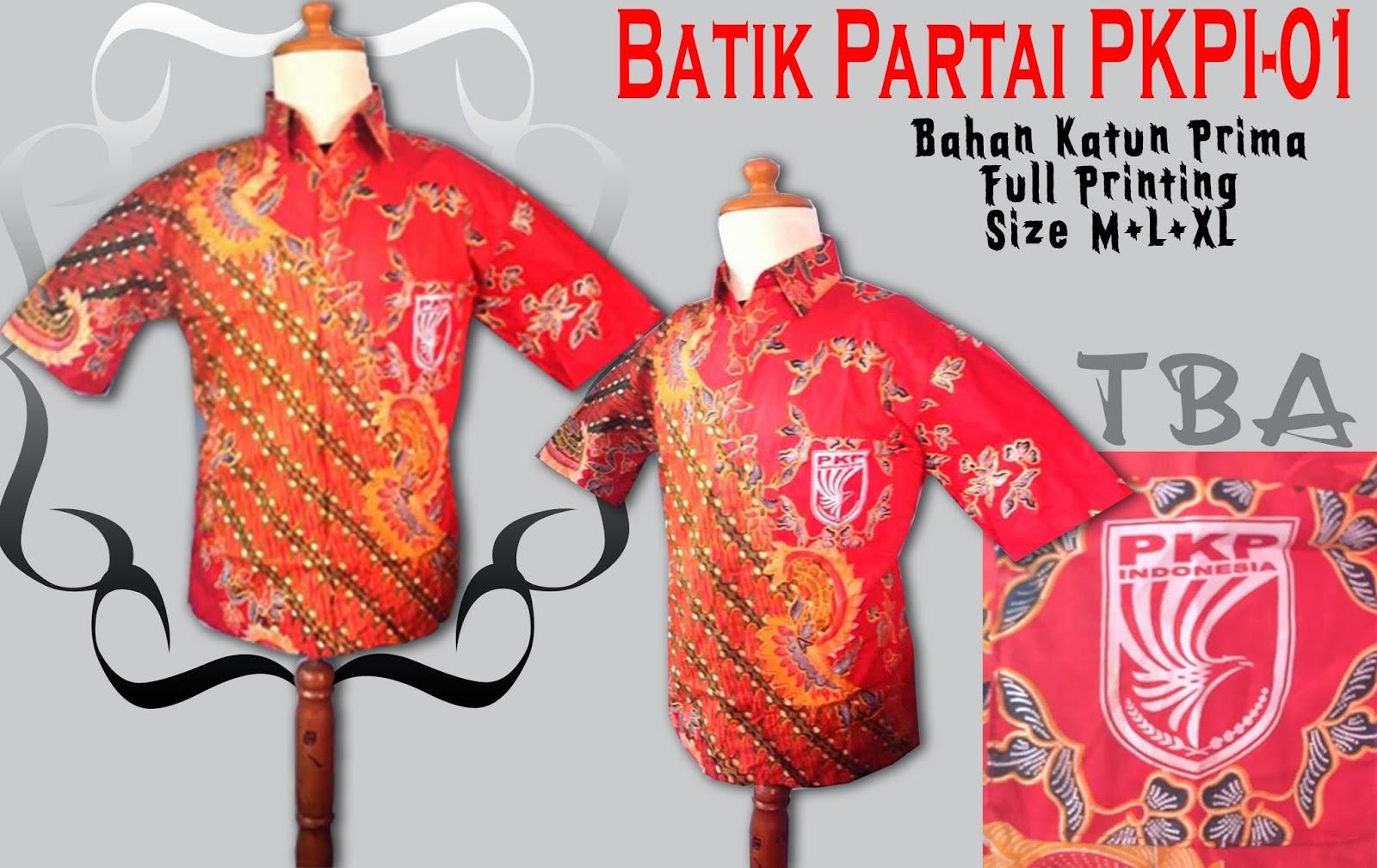 Batik Partai pkpi,seragam partai pkpi,kemeja partai pkpi,konveksi batik