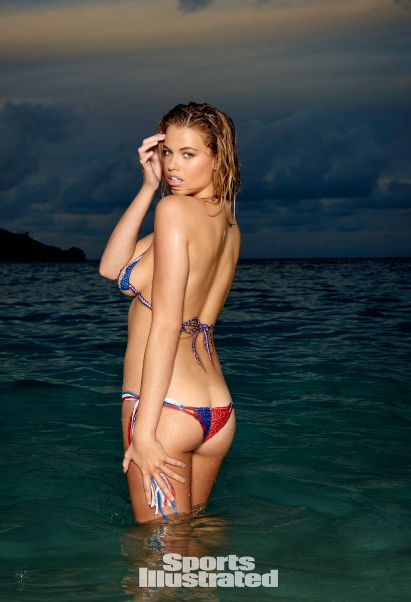 Hailey Clauson in barely there bikinis and body paint for the Sports Illustrated Swim 2015 issue