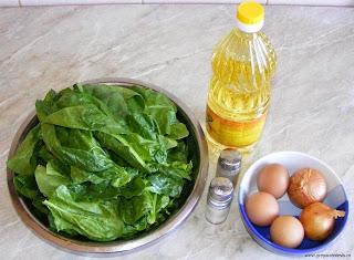 ingrediente mancare de spanac cu ou, retete cu spanac, preparate din spanac,