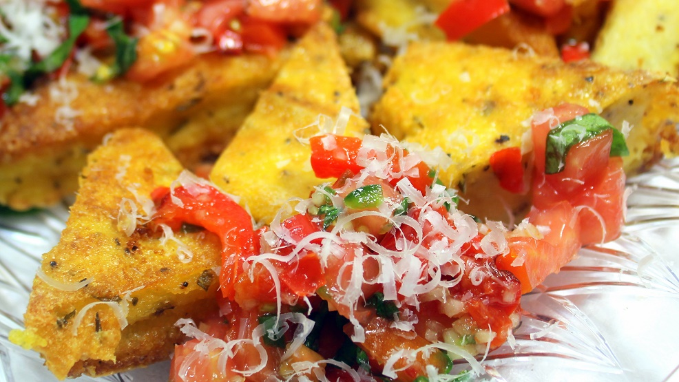 how to cook fried polenta