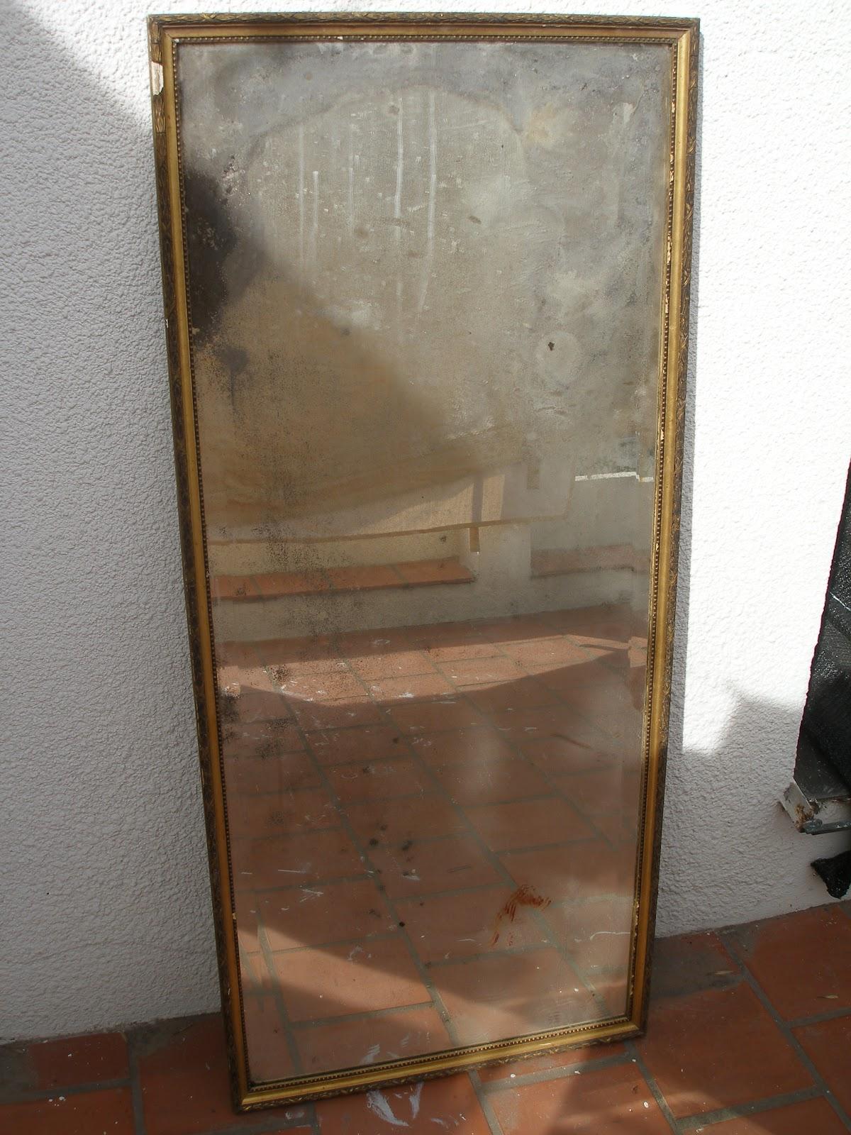 Espejo rectangular antiguo tina aranguren muebles for Espejo rectangular