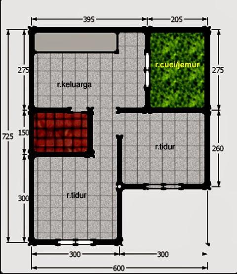 desain rumah sederhana untuk renovasi kpr type 21 standard