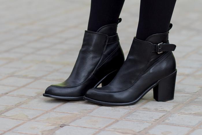 Botines Zara hebillas cuero negro tacón cómodo Colección Blogger Adicta a los Zapatos withorwithoutshoes