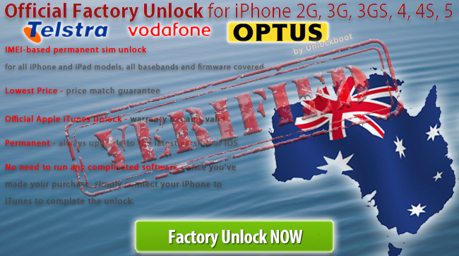 unlock optus telstra vodafone australia iphone 4 4s. Black Bedroom Furniture Sets. Home Design Ideas