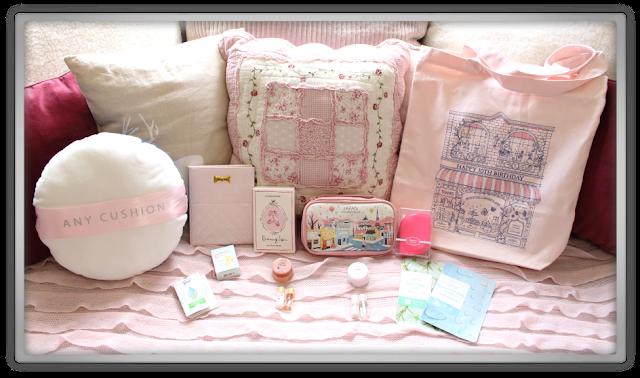 EtudeHouse2012 Mega Epic Etude House Super Haul Review Goodies kawaii cute pink ebay cushion dreaming swan brush mirror pouch