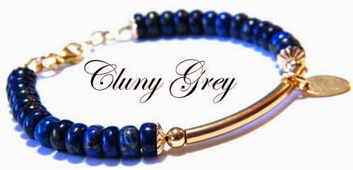 lapis lazuli bracelet with gold-filled accent