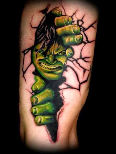 hulk tattoo ideas. Black Bedroom Furniture Sets. Home Design Ideas