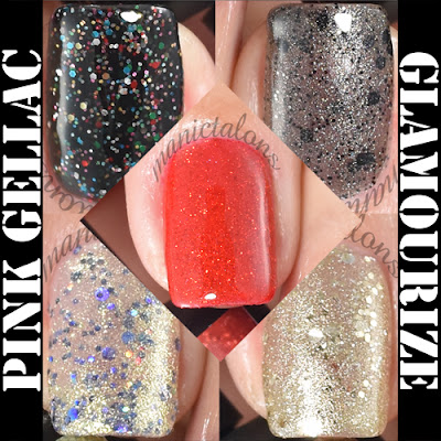 Pink Gellac Glamourize Collection Swatches and Review