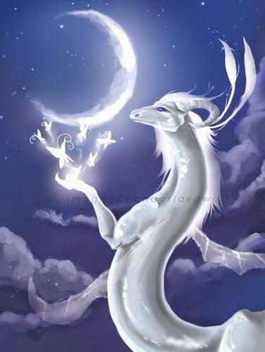 imagen de dragon blanco mistico