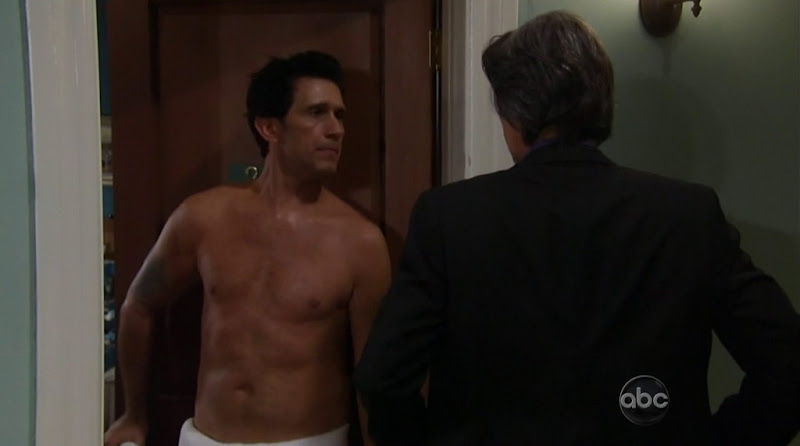 Ronnie Marmo Shirtless in General Hospital 20120503