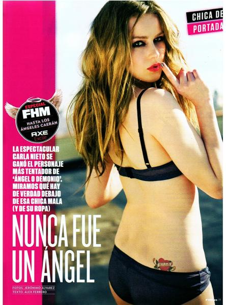 carla nieto hot sexy pics photos fhm spain photoshoot april 2011