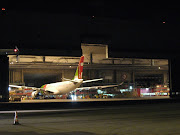 Some unusual photos at night with the hangar opened and showing Airbus A330 . (hangar )