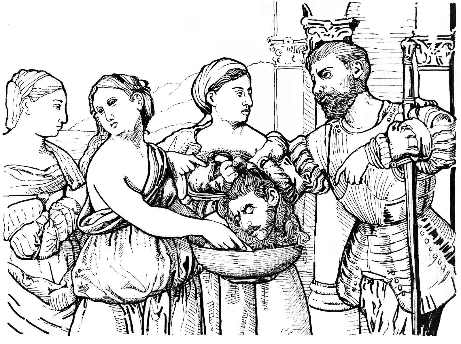 John The Baptist Beheaded Scriptural Reference For This Coloring Page