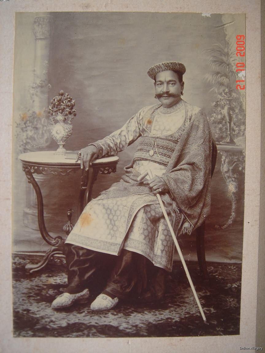 Rich Indian Man Vintage Studio Photograph