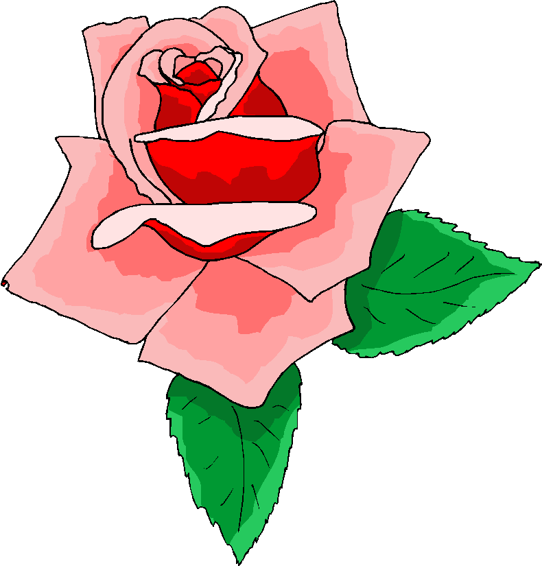 Pink Rose Free Flower Clipart