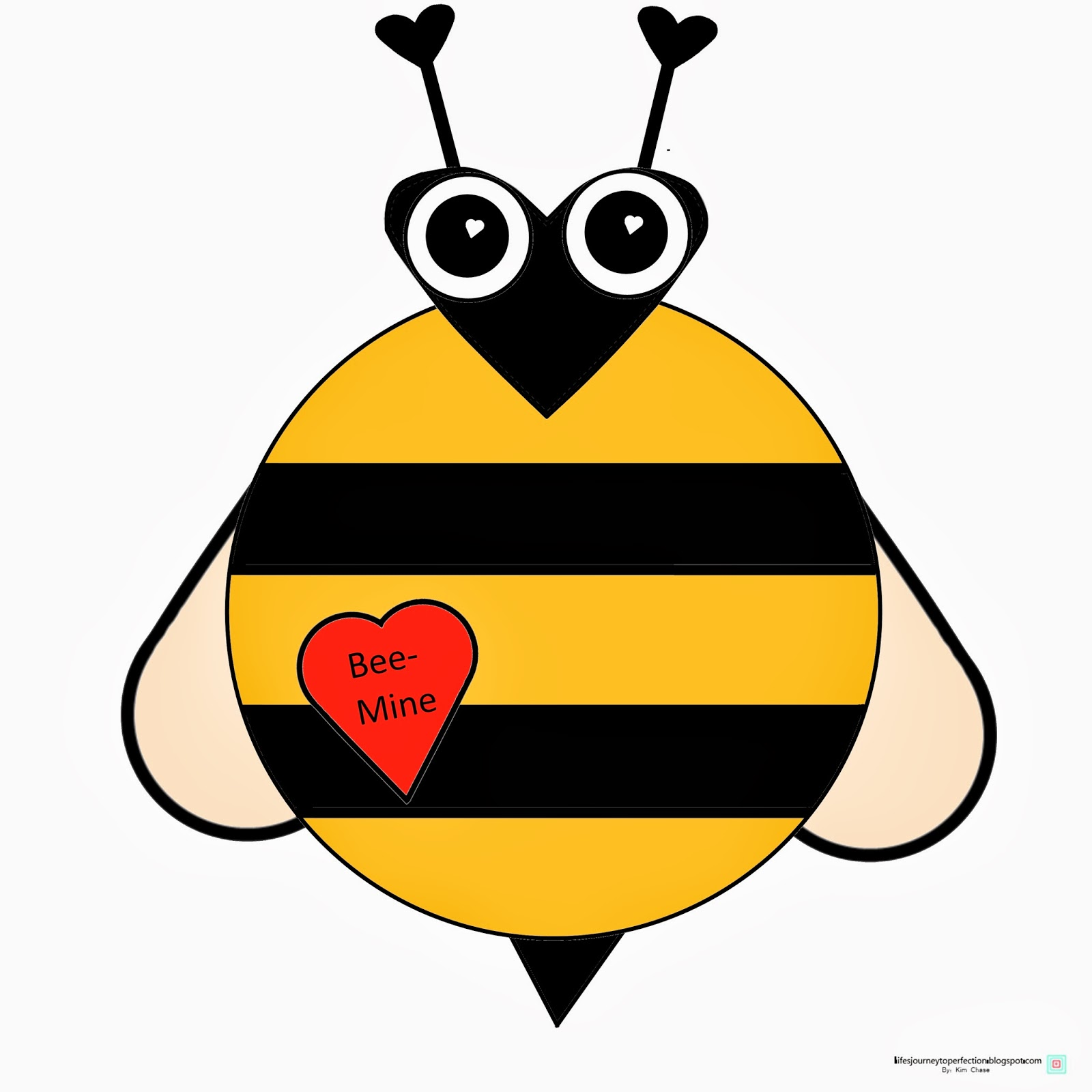 Lifes Journey To Perfection Valentines Day Bee Craft Printable