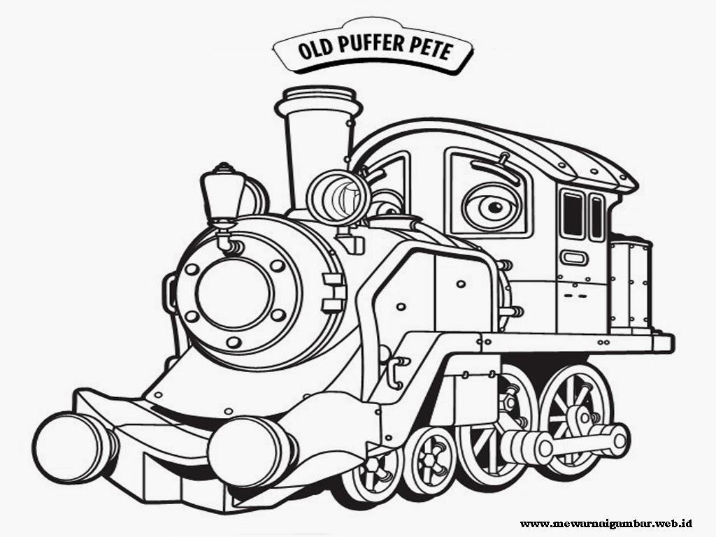 gambar mewarnai kereta api yang yang penuh makna ini, download gambar