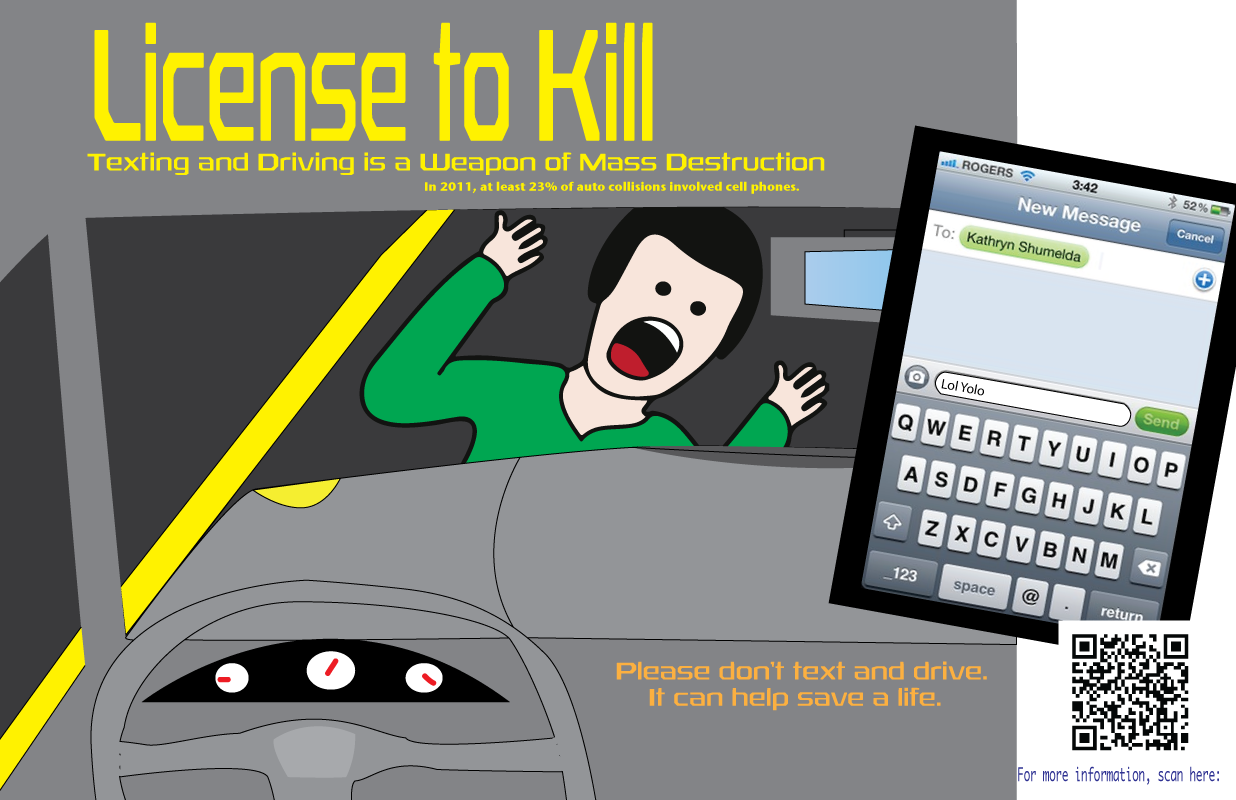 texting and driving psa Britain tackles the texting-while-driving phenomenon by screening a disturbing psa around the country.