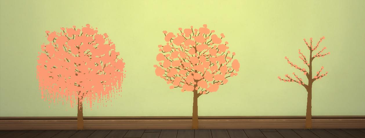 Hinayuna\'s Sims 4 CC: Sakura Wall Stencil