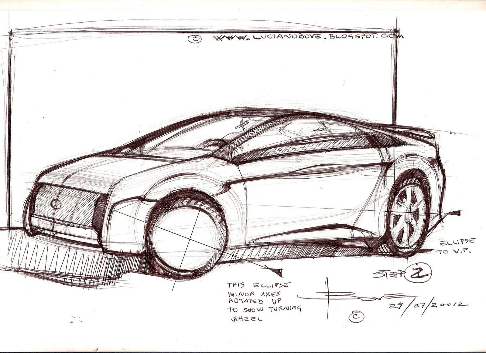 Car Sketch Tutorial By Luciano Bove Www
