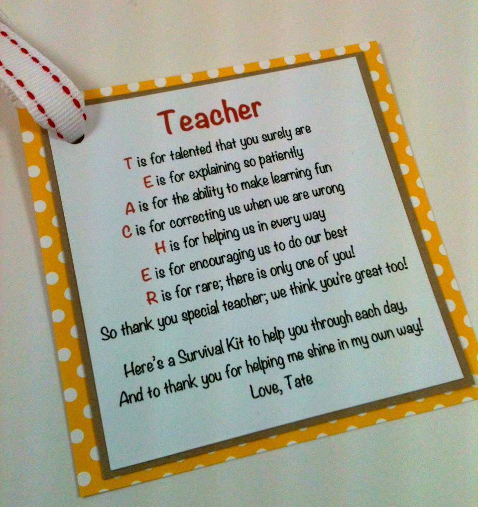 Scrap Happens!: Back to School Teacher Survival Kit