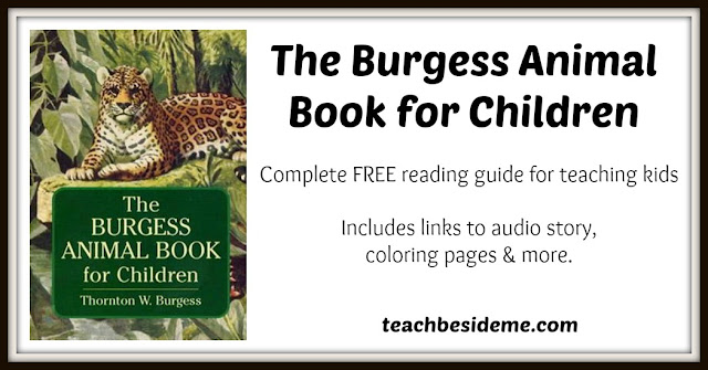Burgess Animal Book For Children Learning Guide Teach Beside Merhteachbesideme: Burgess Animal Coloring Pages At Baymontmadison.com