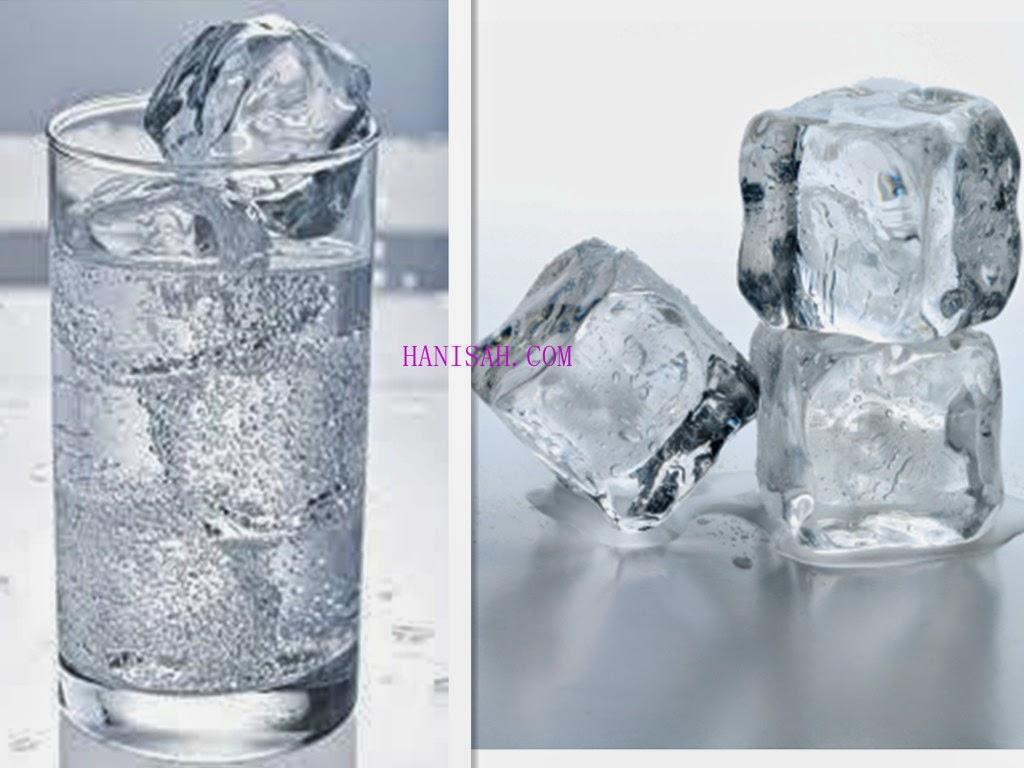 efek minum air es untuk kesehatan
