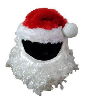 Santa Claus Christmas Motorcycle Helmet Cover