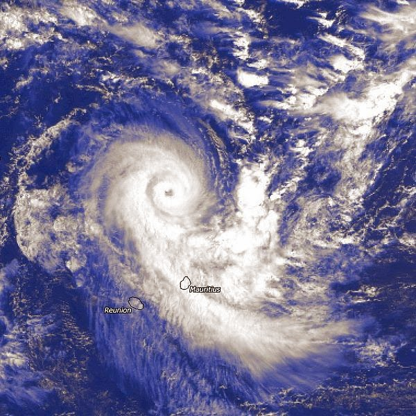 Image satellite du cyclone tropical intense Connie